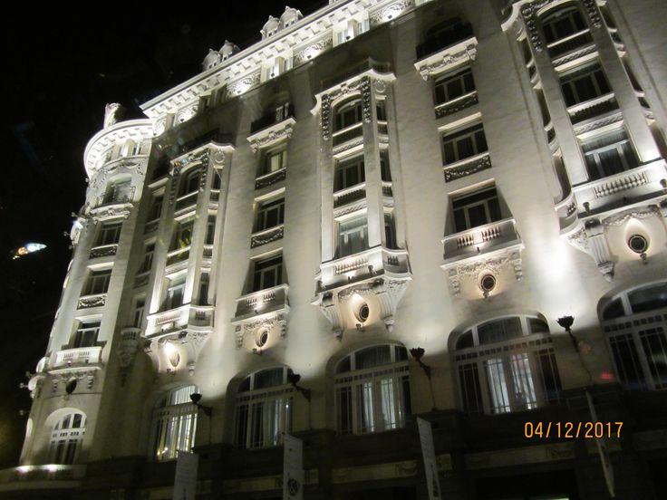 Madrid. Fachada de Hotel Westin Palace de Madrid. 2017. Carrera de San Jerónimo.