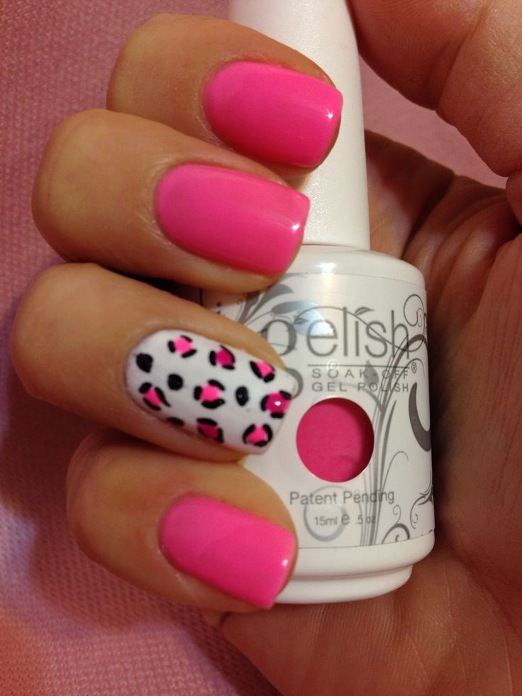 A Neon Pink Nail Art using #Gelish polish! Find out which one by clicking here: http://www.preen.me/look/84749004-gelish-neon-pink-by-lsl-l