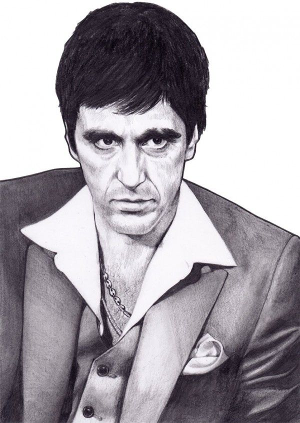 Al Pacino drawings | Pics Photos - Al Pacino Scarface Drawing Sketch Art