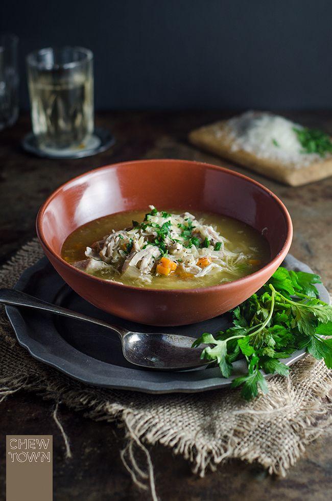 Brodo di Pollo - Italian Chicken Soup | Chew Town Food Blog