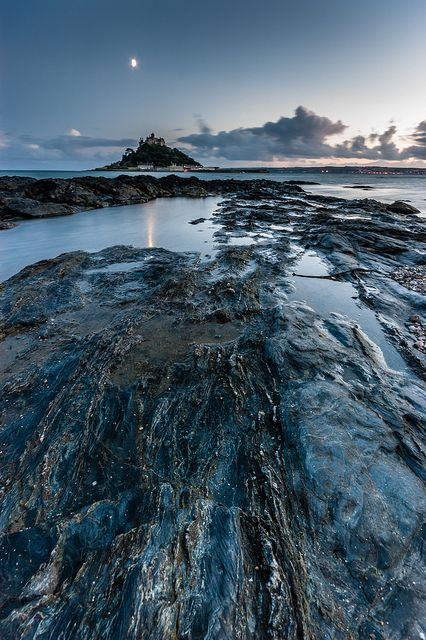 Dusk at St Michael's Mount #2, Marazion, Cornwall, South West England