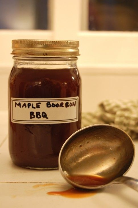 """Big Dog's """"Award Losing"""" Maple Bourbon BBQ Sauce.  Will be basting some ribs and chicken with this soon."""