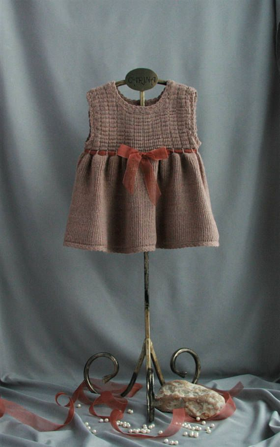 We believe that simple design can be cute and festive too! That is why the clothing is decorated with only a cute ribbon at the front. This dress is made of wool blend yarn (50% wool, 50%polyester). Wool blend yarn is not only warm, but also easier to maintain compared to woolen fabric.