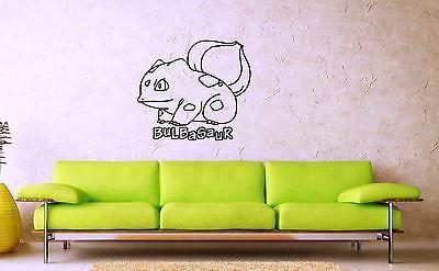 Wall Stickers Vinyl Decal Pokemon Bulbasaur Anime Kid Baby Room Nursery (ig1094)