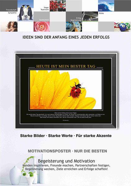 druck poster heute ist mein bester tag motivationsposter mit inspirierendem text f r b ro und. Black Bedroom Furniture Sets. Home Design Ideas