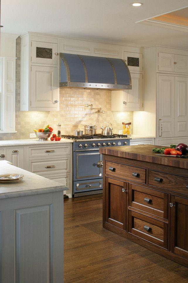 Range is the cornuf 110 range in provence blue for Provence kitchen design
