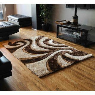 shop for blazing needles 5foot by 7foot elegant swirls shag rug