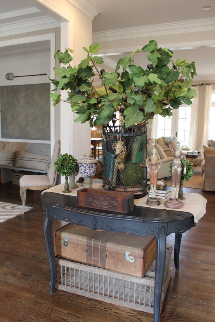 Foyer Table Vignettes : Best images about country antique decorating on