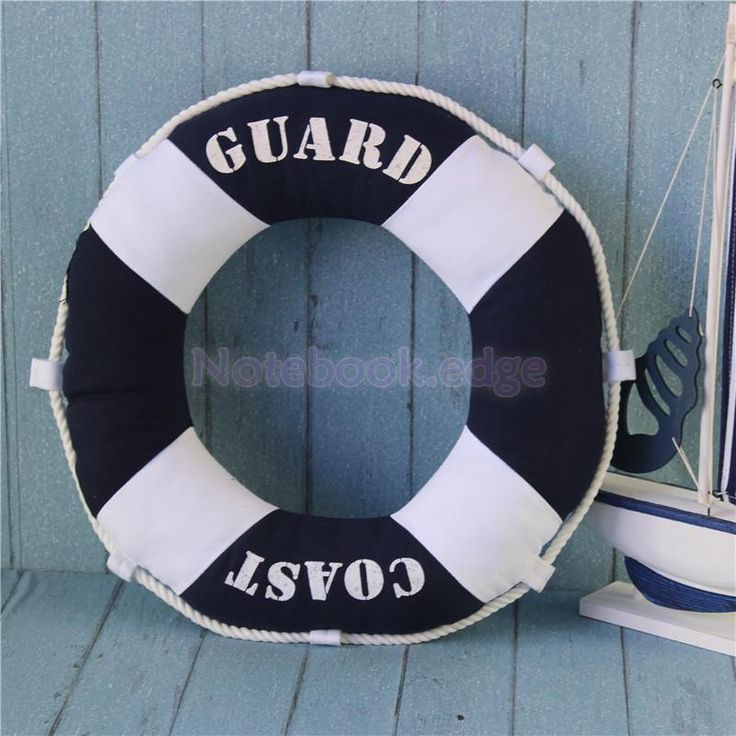Mediterranean Coast Guard Torus Ring Sharp Pillow Soft Relax Home Office
