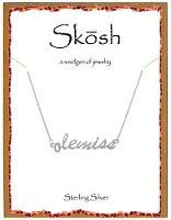Skosh Ole Miss word necklace