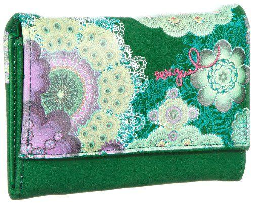 Desigual MONE_PEQUE.ROSCON, Portafoglio donna, Verde (Grün (verde nantes 4043)), 4x10x13 cm (B x H x T)
