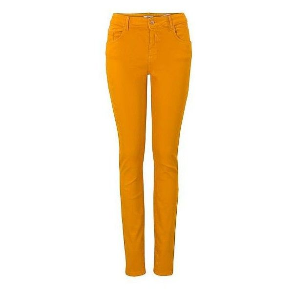 Miss Etam skinny jeans? Bestel nu bij wehkamp.nl ❤ liked on Polyvore featuring jeans, pants, skinny leg jeans, skinny fit jeans, super skinny jeans, denim skinny jeans and orange jeans