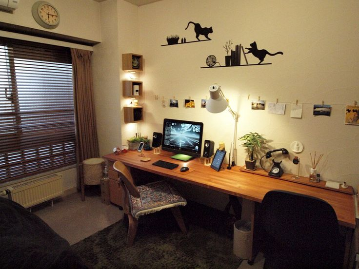 PCと部屋の統一感ばつぐん : おしゃれな部屋 参考画像まとめ 厳選1070枚 「上手な空間・部屋づくり」 - NAVER まとめ