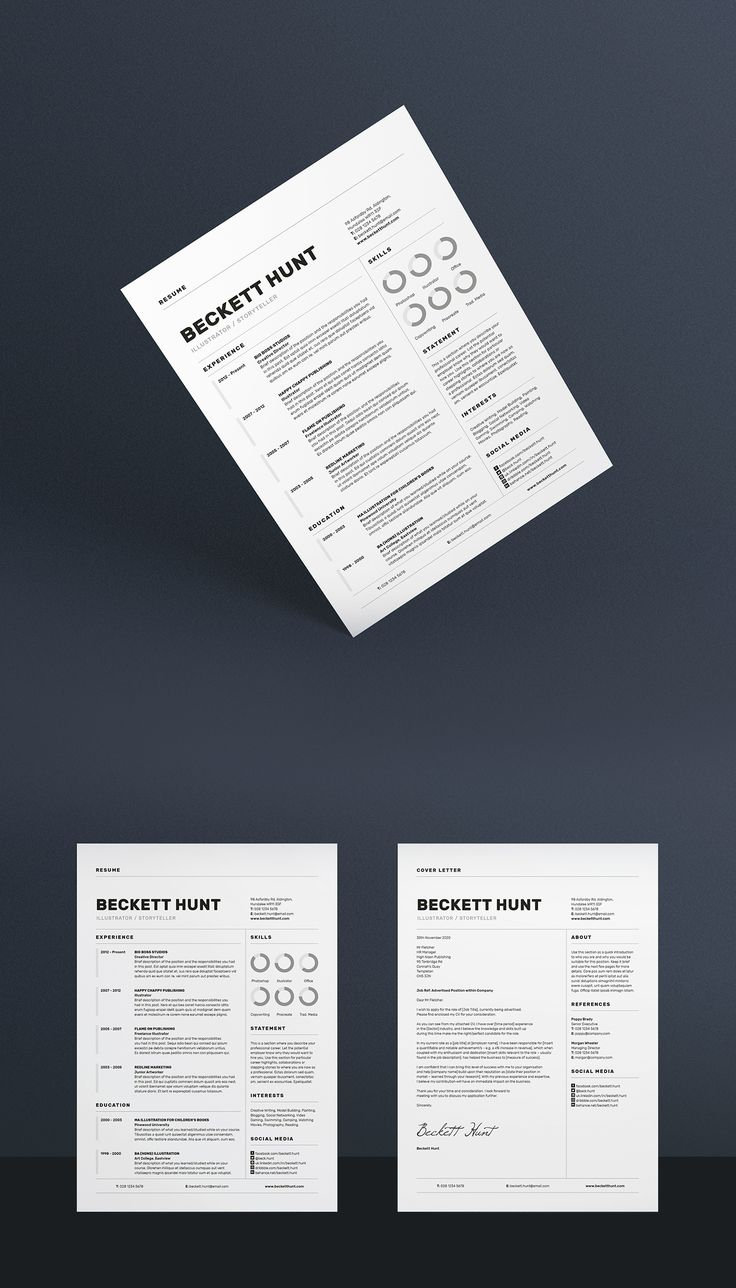 cv and covering letter%0A Professional Resume CV and Cover Letter Template