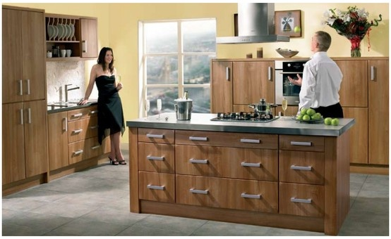 Bella Rimini kitchen in light walnut.  Evokes the colour and texture of walnut,  traditionally a wood for carving and  woodturning. Creating an aura of  craftsmanship and quality in your home.