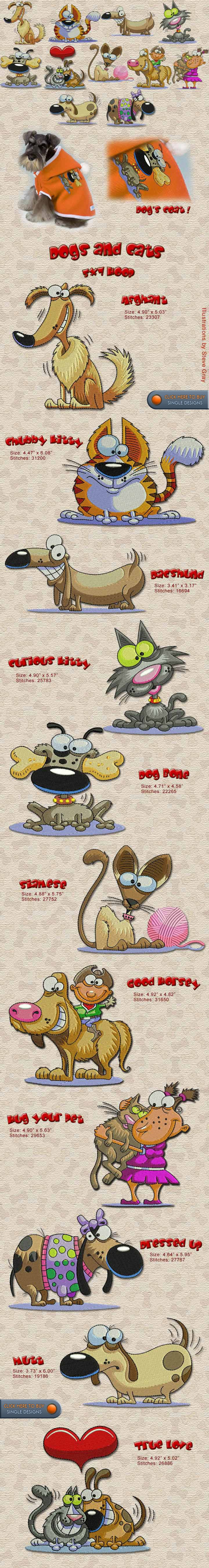 DOG, CAT, FRIENDSHIP Embroidery Designs Free Embroidery Design Patterns Applique