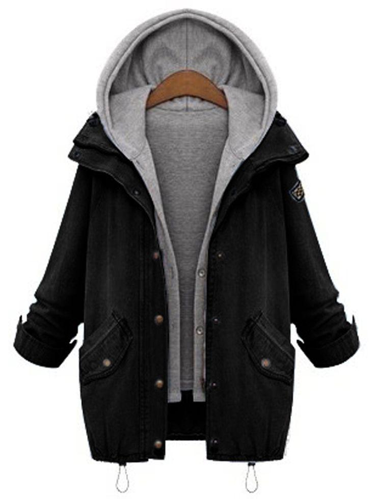 Zwei Teile Mantel mit Kordelzug und Taschen – German SheIn(Sheinside) – Erbsieins
