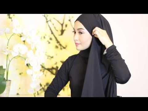 Sufyaa Hijab Tutorial, Basic Drape with Chiffon Shawl - YouTube