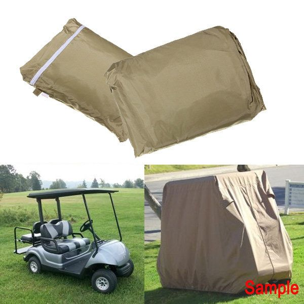 4 Passenger Cover Taupe Protect Against Rain Sun for Golf Cart Yamaha