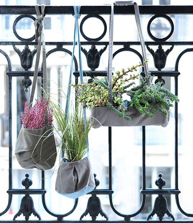 Bring back balcony gardening with these hanging handbags.