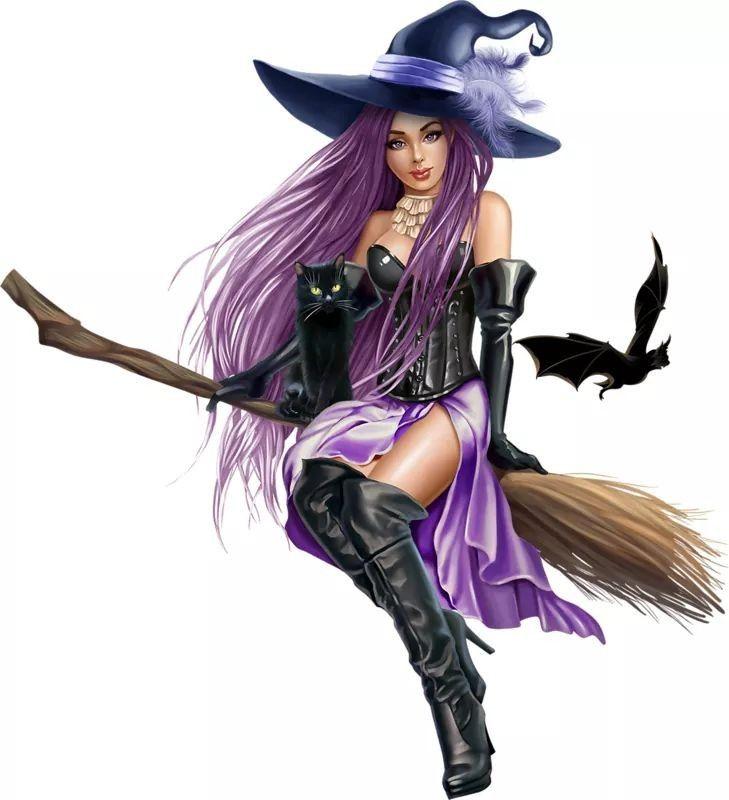 Ведьмочка открытка