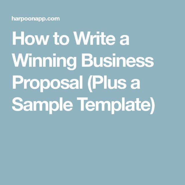How to Write a Winning Business Proposal (Plus a Sample Template)