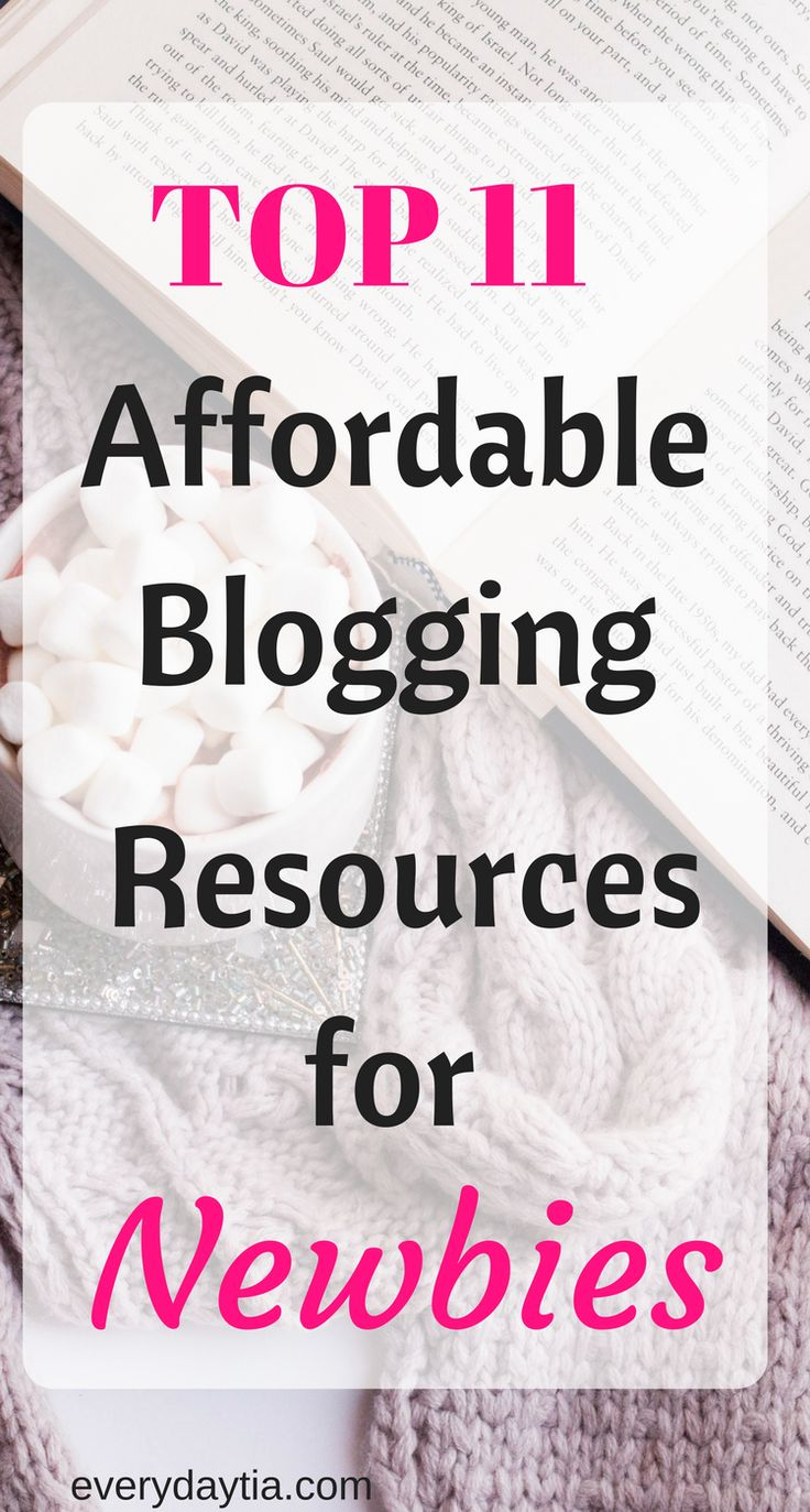 Are you a blogging newbie in 2017 and wanting to learn step by step on how to start a blog with cheap resources? This list is for you! From learning about writing content, stock photos, affiliate marketing, driving traffic to your blog from Pinterest, you definitely won't break the bank! Get a great head start with these affordable blogging resources for newbies. Click here now! - Everyday Tia