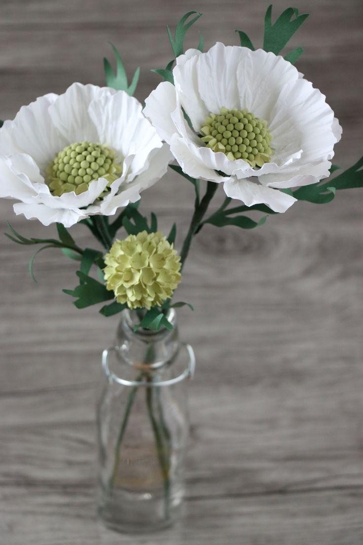 DIY paper flower - Scabiosa