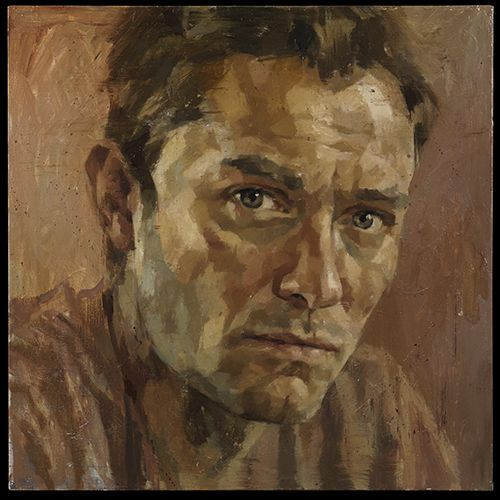 Portrait of Jude Law by Jonathan Yeo. National Portrait Gallery, London