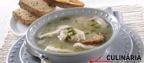 Receita de Sopa de cação. Descubra como cozinhar Sopa de cação de maneira prática e deliciosa com a Teleculinária!