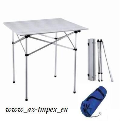 Campingový stůl, zahradní, skládací 70x70cm 3,6Kg - 1