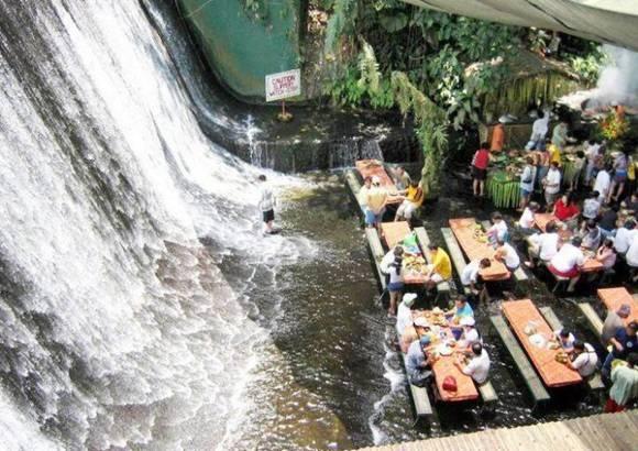 Amazing Waterfall Restaurant in Philippines: Bucket List, Favorite Places, Waterfalls, Villas, Travel, Philippines, Waterfallrestaurant