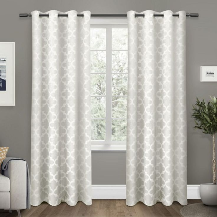 White Cartago Blackout Curtain Panel Set, 84 in. | Kirklands