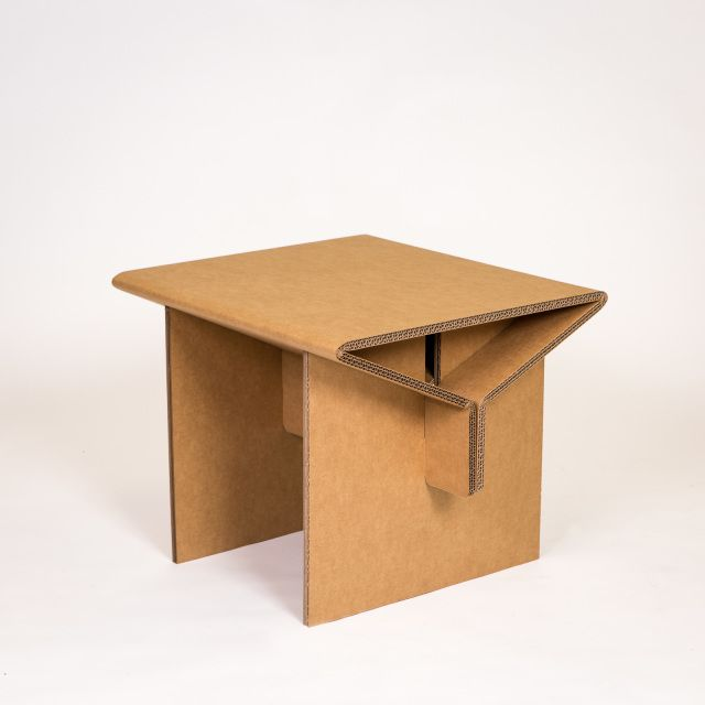 Need a side kick?  The chairigami side table is the peanut butter to your jelly, the milk to your cookies, the I-need-to-put-my-coffee-somewhere thing to your favorite cardboard arm chair.