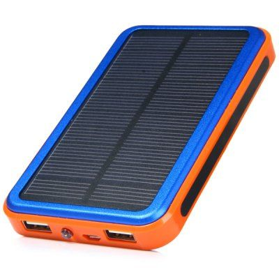 Solar Energy 48000mAh Double USB Interface Portable Mobile Power Bank with Power Indicator Light