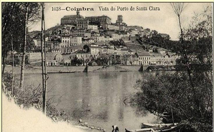 Vista do Porto de Sta Clara Foto divinal da nossa Coimbra