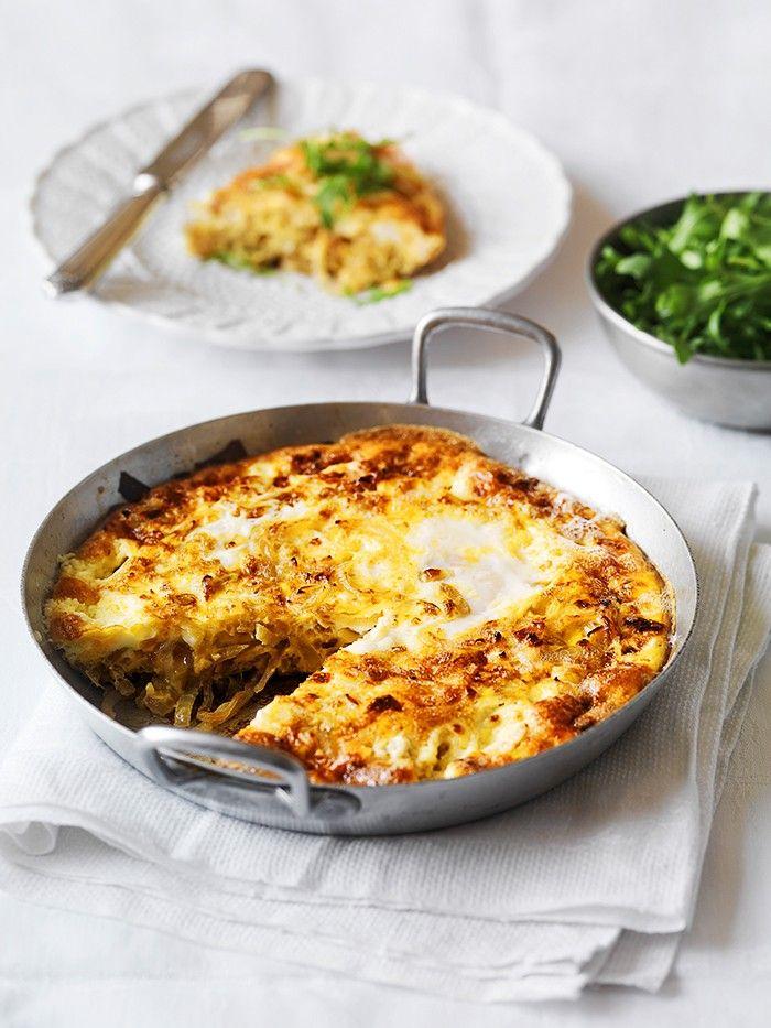Caramelised Onion, Leek and Persian Feta Frittata | Vegetarian | MiNDFOOD