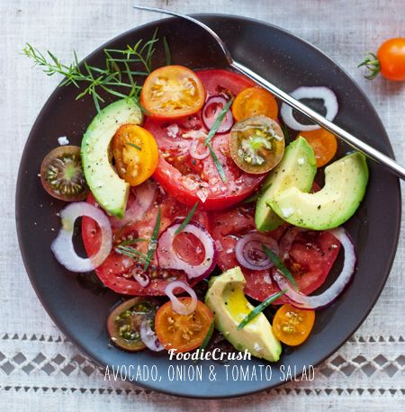 Avocado, Onion and Tomato Salad