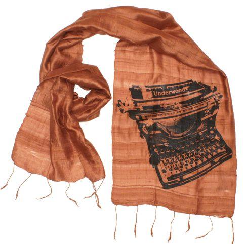 Vintage Typewriter Scarf - Cinnamon