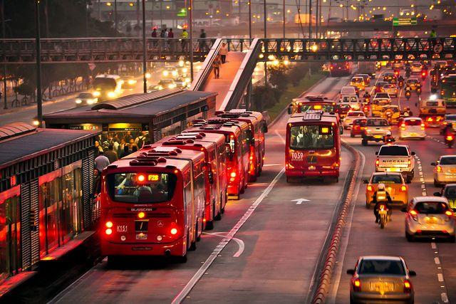 Transporte público, transmilenio, Bogotá