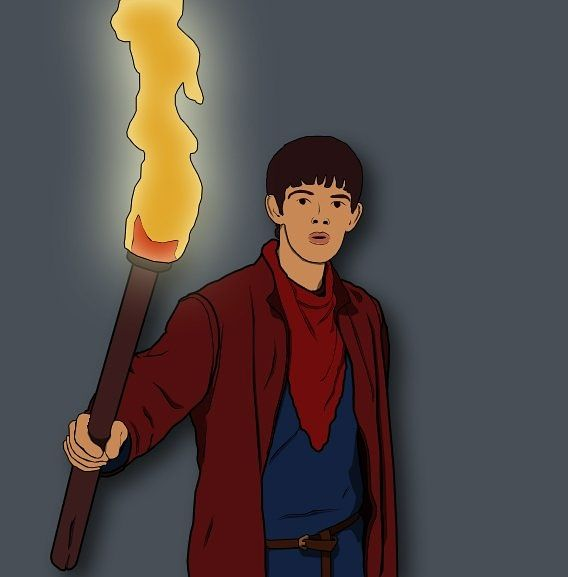 Couldn't resist making another Merlin photo-to-cartoon. *Credit if using* #Merlin #camelot #ColinMorgan #uther #arthur #pendragon #magic #photoshop #cartoon