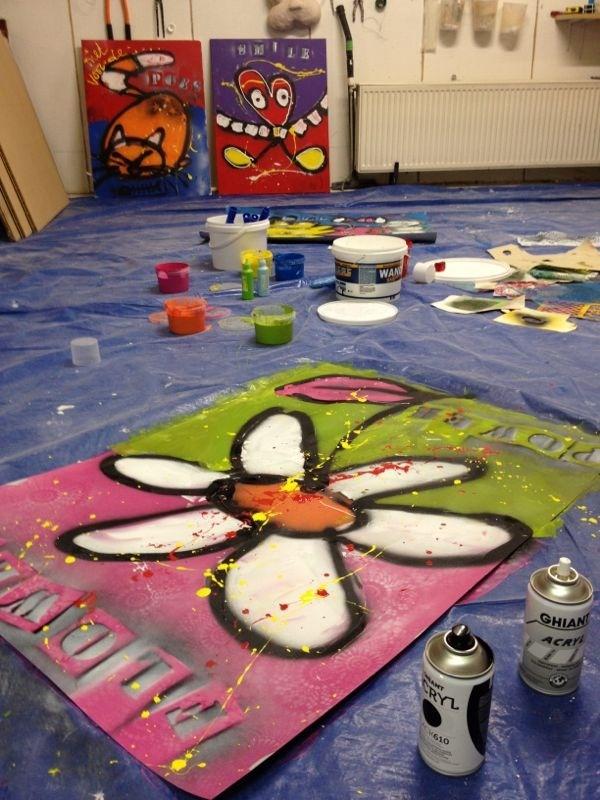 Te gekke Street Art schilderworkshop. Meer info op www.facebook.com/CJArtists.