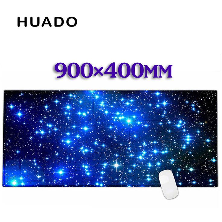 Blue starry sky Rubber Gaming Mouse Pad Desk Mat For PC Laptop Computer  gta 5 CS XL 900*400mm #Affiliate