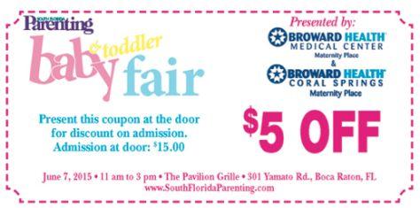 South Florida Parenting baby & toddler fair coupon