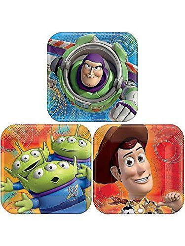 American Greetings Toy Story 3 Assorted Square Plate (8 Count) 7 @ niftywarehouse.com #NiftyWarehouse #Toy #Story #Movie #ToyStory #Pixar