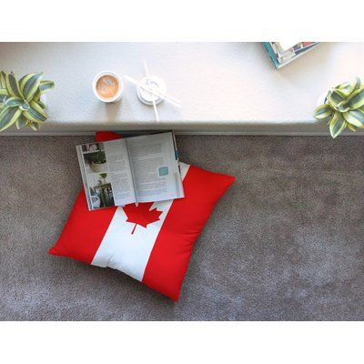 "East Urban Home Flag of Canada by Bruce Stanfield Floor Pillow Size: 26"" x 26"""