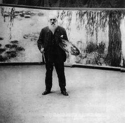 Monet in his studio, from Une Fille Comme Les Autres