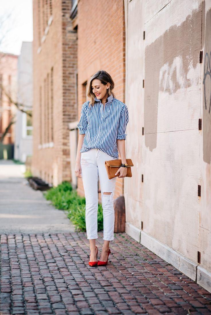 How To Wear A Boyfriend Shirt (See Jane Wear) | See Jane. | Bloglovin'