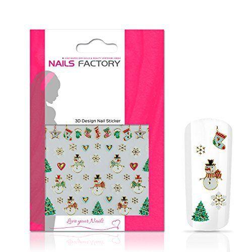 Stickers ongles or Christmas Snowman: Stickers pour nail art Or Christmas SnowmanSi les jours en hiver approche de Noël de refroidisseur et…