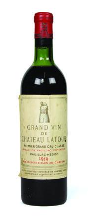 Lot 575 - 1 x Chateau Latour 1959 750ml